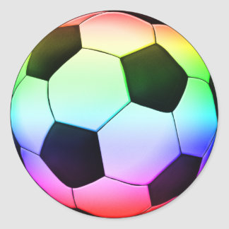 Colorfull Soccer | Football Sport Round Sticker