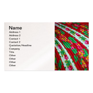 Colorfull-textile-with-fringes614 RED WHITE GREENS Business Card Templates