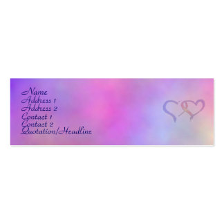 Colorfully elegant Profile Cards Pack Of Skinny Business Cards