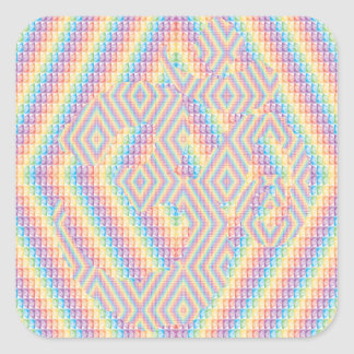 Colorfully Hidden Aum Square Stickers