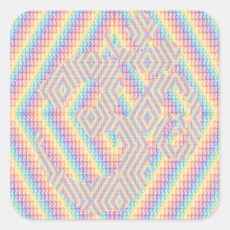 Colorfully Hidden Aum Square Sticker