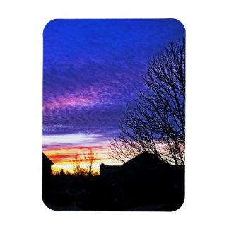 Colorfun Sunrise in Cincinnati Magnet