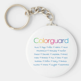 Colorguard Basic Round Button Key Ring