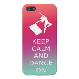 "Colorguard ""Keep Calm and Dance On"" iPhone 5/5S Cover"