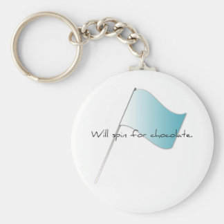 """Colorguard """"Will spin for chocolate"""" Basic Round Button Key Ring"""