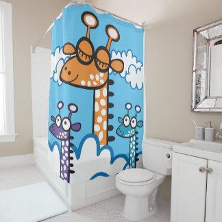 Colorida Jirafa. Giraffe. Shower Curtain