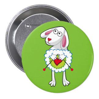 Colorida Oveja Tejedora. Sheep. 7.5 Cm Round Badge
