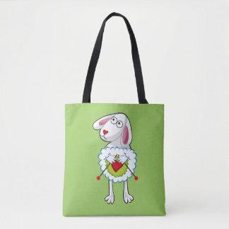Colorida Oveja Tejedora. Sheep. Tote Bag