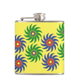 Coloridas formas patrón abstracto flores flasks