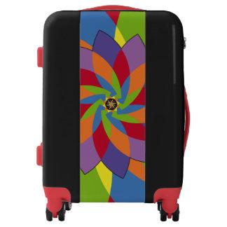 Coloridas formas patrón abstracto flores luggage