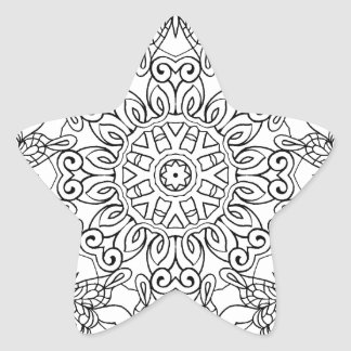 Coloring Book Mandala 1-27 Star Sticker