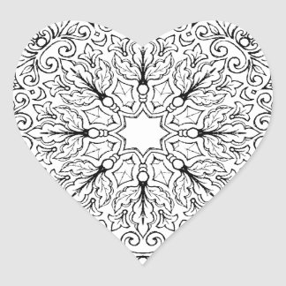 Coloring Book Mandala 1-63 Heart Sticker
