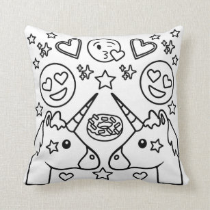 emoji poufs zazzle au Creole Emoji coloring book unicorn emoji pillow