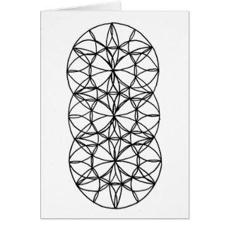 Coloring Geometric Card Design 2 5 x 7 & Envelope