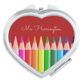Coloring Pencils custom name pocket mirror Vanity Mirror