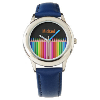 Coloring Pencils custom name watches