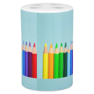 coloring pens soap dispenser and toothbrush holder