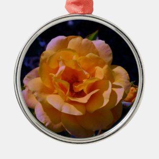 Colorized Rose Christmas Tree Ornaments