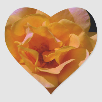 Colorized Rose Heart Stickers