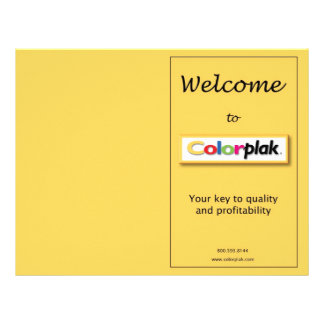 Colorplak pricing brochure 21.5 cm x 28 cm flyer