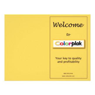 Colorplak pricing brochure 21.5 cm x 28 cm flyer