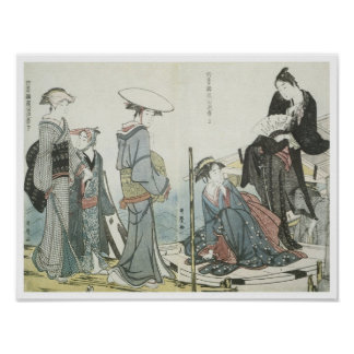 Colors and Scents of Flowers, Utamaro, 1784 Poster