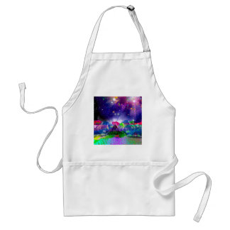 Colors and stars light up the night standard apron