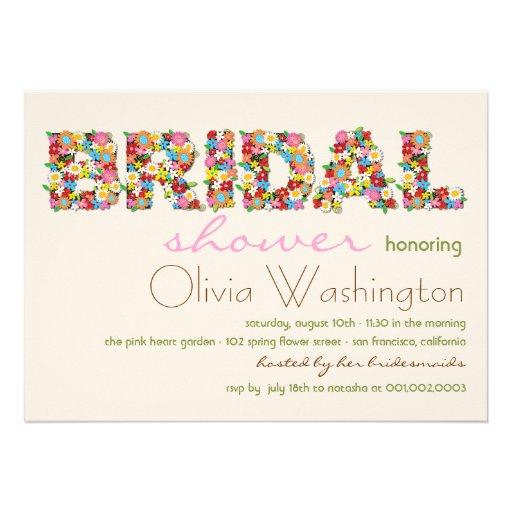 Colors Bridal Spring Flowers Bridal Shower Invite Invite