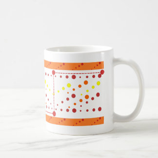 Colors, circles, lines and rectangles coffee mug