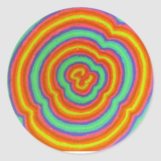 colors classic round sticker