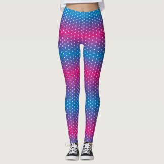 colors gradation polka dot leggings