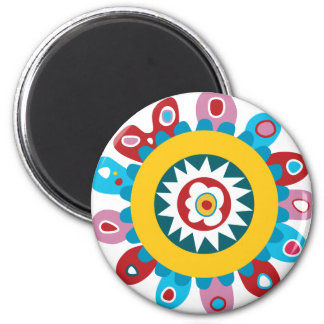 Colors in Love 6 Cm Round Magnet