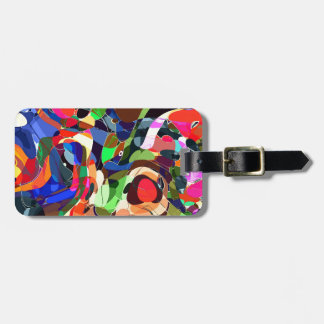 Colors mashup luggage tag
