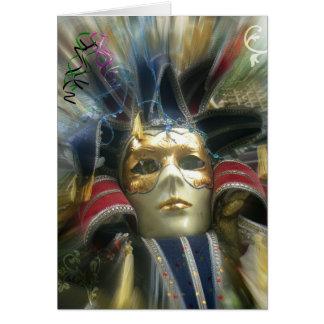 Colors Masquerade Card