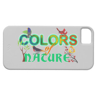 Colors nature colorful birds jungle cute cartoon barely there iPhone 5 case