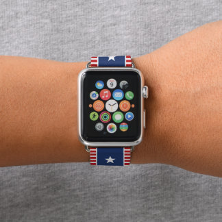 Colors of American Flag. Stars and Spangled Banner Apple Watch Band