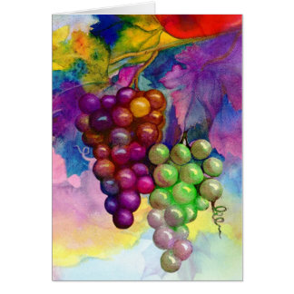 Colors of autumn grapevine card