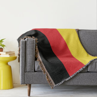 Colors of Germany Flag. Throw Blanket
