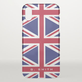 Colors of Great Britain Flag. Union Jack. iPhone X Case