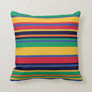 Colors of Horizontal Lines Throw Pillow Decor-1