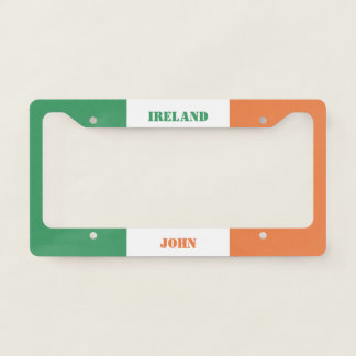 Colors of Ireland Flag. Add Your Name. Licence Plate Frame