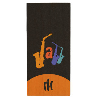Colors of Jazz Monogram Black USB Flash Drive