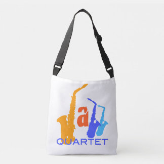 Colors of Jazz Quartet Sax Illustration bag 1