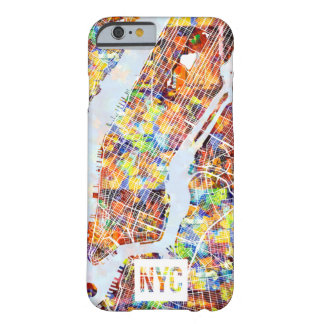 Colors of New York City Map Barely There iPhone 6 Case