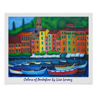Colors of Portofino Painting Print