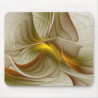 Colors of Precious Metals, Abstract Fractal Art Mouse Pad