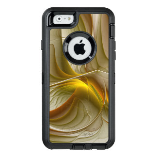Colors of Precious Metals, Abstract Fractal Art OtterBox Defender iPhone Case