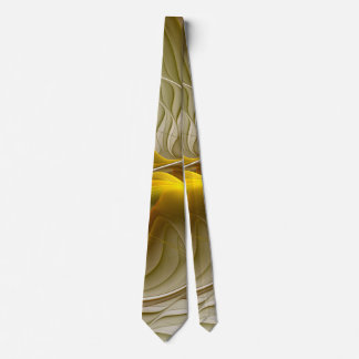 Colors of Precious Metals, Abstract Fractal Art Tie