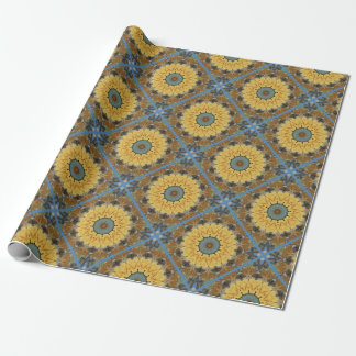 Colors of Rust 894_M, mandala-style Wrapping Paper