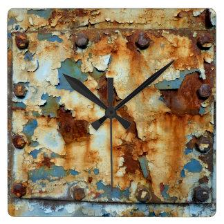 Colors of Rust Ob3.0, Rost-Art Square Wall Clock